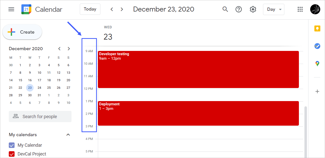 Events imported from Google Sheets to Google Calendar