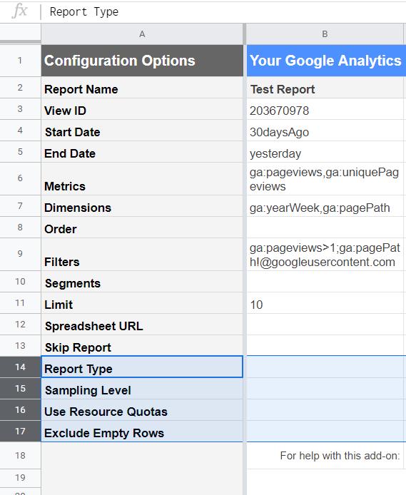 Google Analytics add-on: Hidden parameters