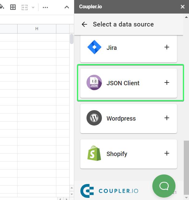JSON Client importer