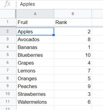 Sort data with a header row