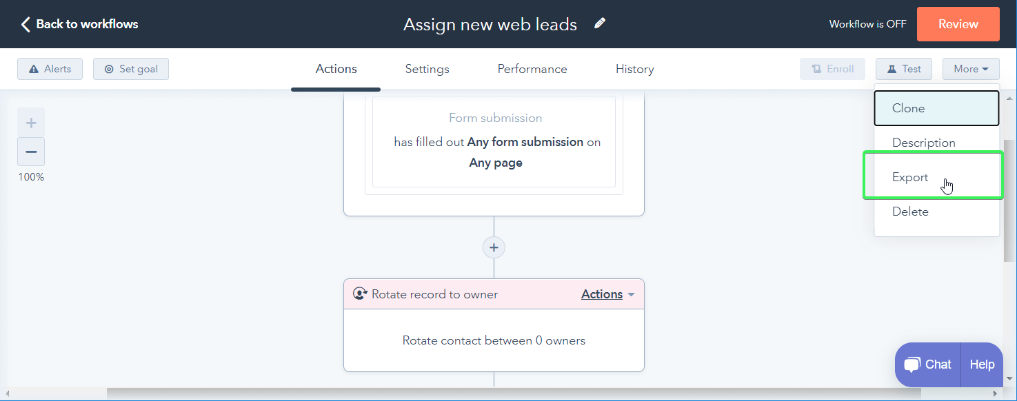 Export workflow as an image