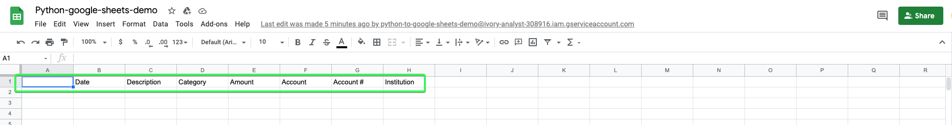 Data transferred from one spreadsheet into another using Python