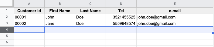 Remove rows from spreadsheet