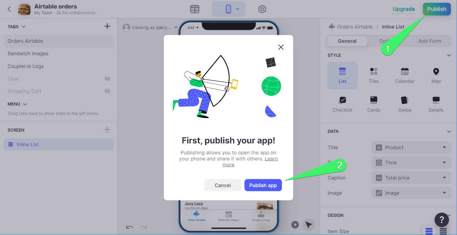 Publish your Glide app