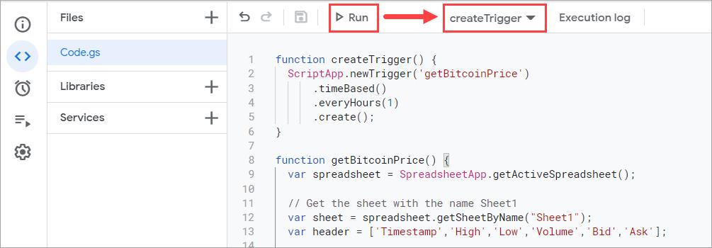 Creating a trigger using a script