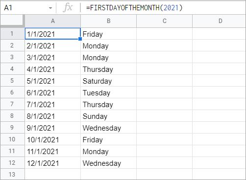 A custom Google Apps Script date function