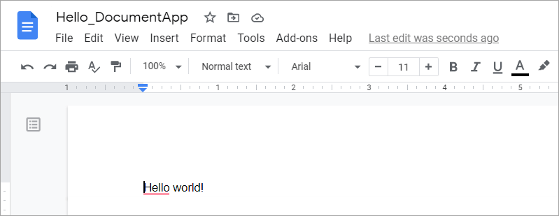 Google Apps Script example - Google Docs manipulation