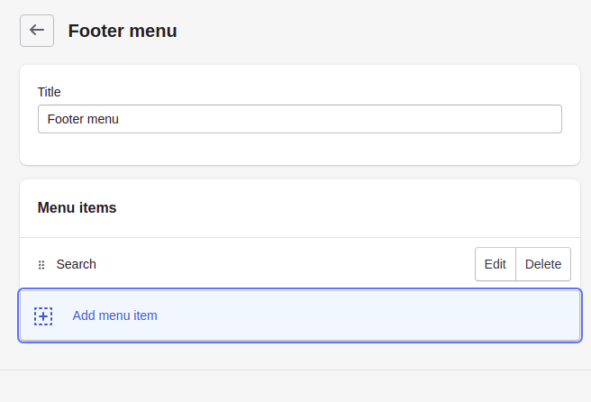 Add an item to the Footer menu