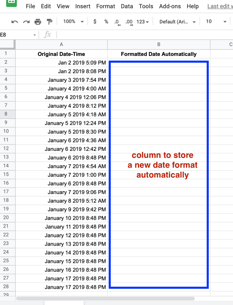 Automatically change format date