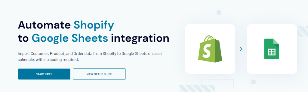 Export Shopify data to Google Sheets