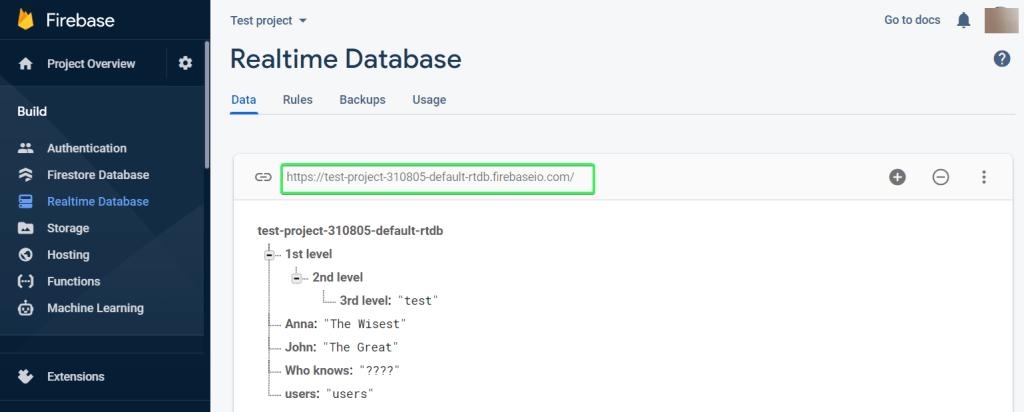 Export Firebase Realtime Database