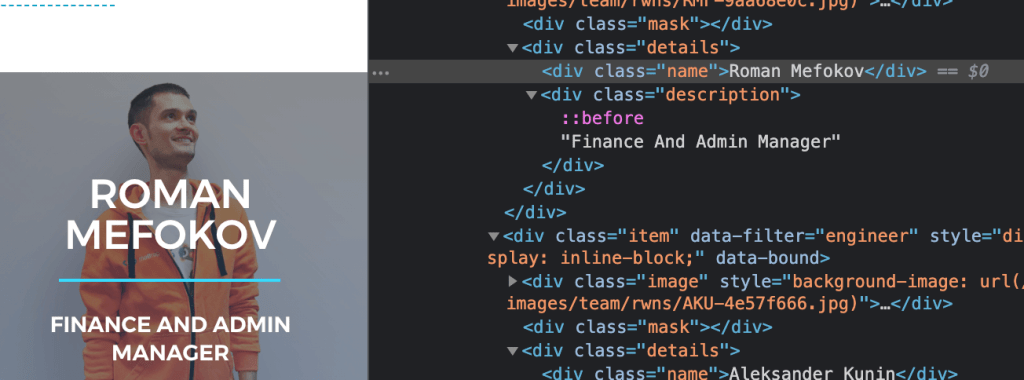 Name XML class on the page