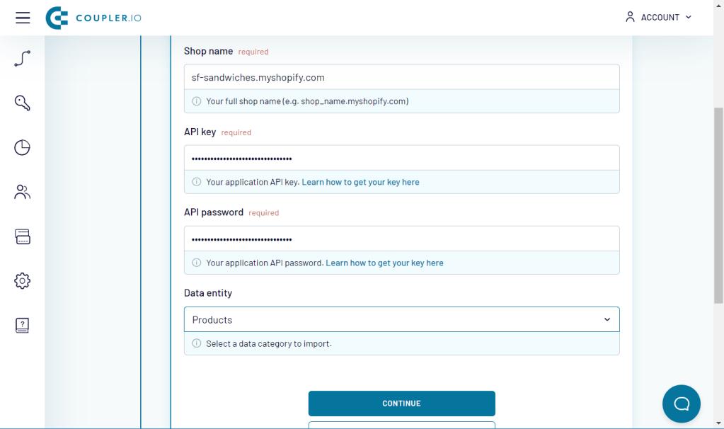 Source setup for Shopify