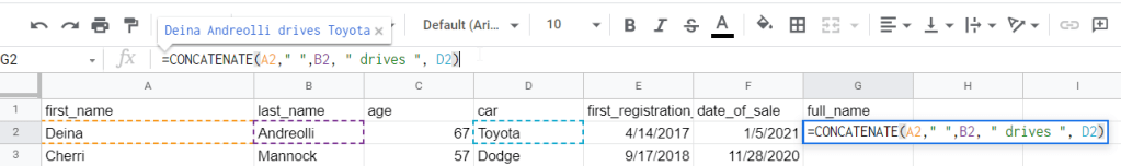Google Sheets CONCATENATE multiple cells (more than 2)