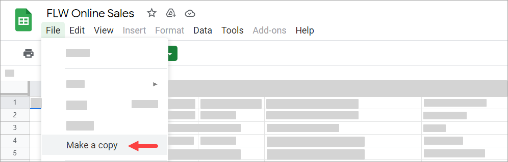 The Google Sheets file used in this tutorial