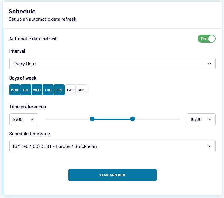 11 - quickbooks export schedule