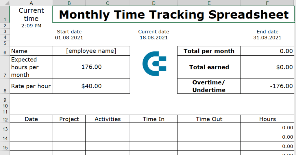 20-monthly-time-tracking-spreadsheet