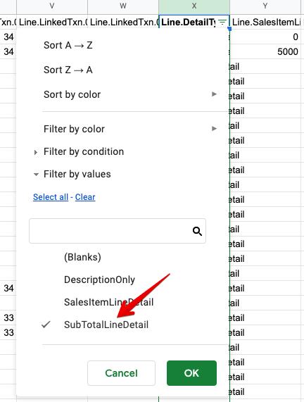 28 - quickbooks export invoice filtering