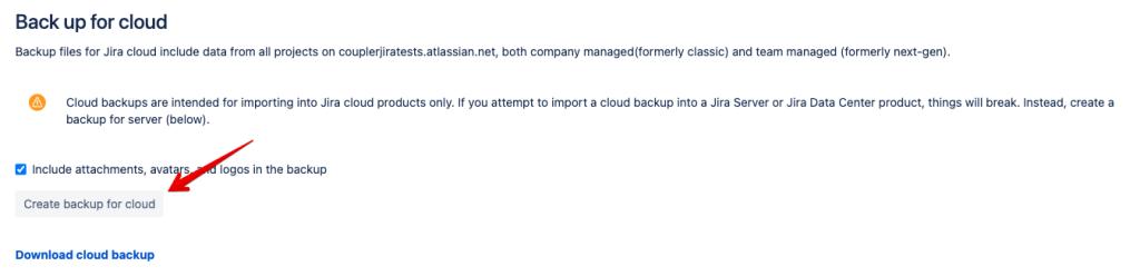 3- jira backup for cloud