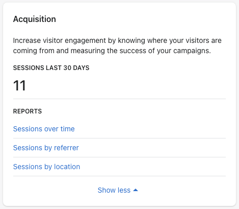 3 - shopify acquisition reports