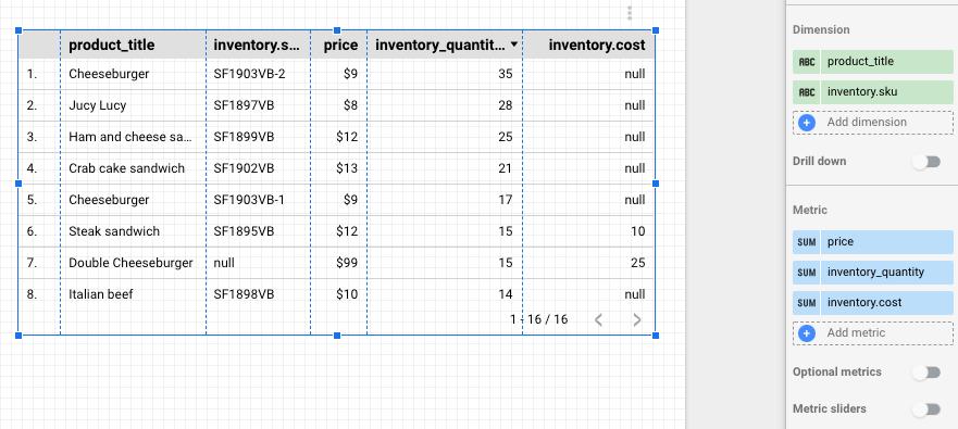 30 - datastudio advanced table