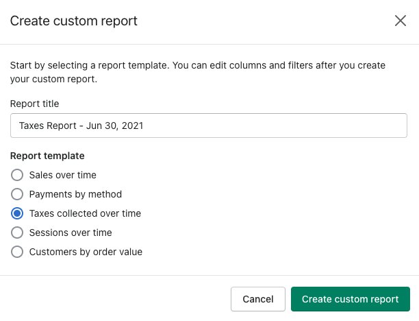 31 - shopify create custom report