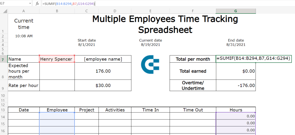32-sumif-total-hours-per-month