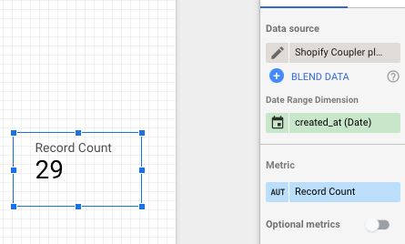 33 - data studio record count