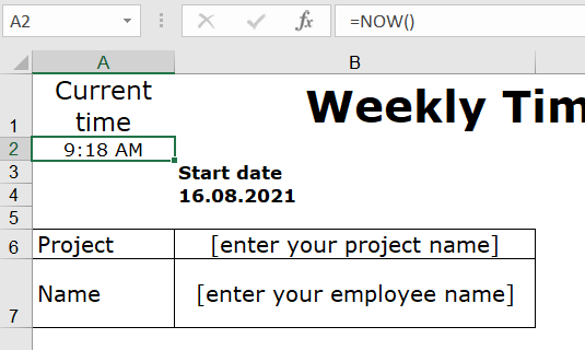 4-now-function-excel