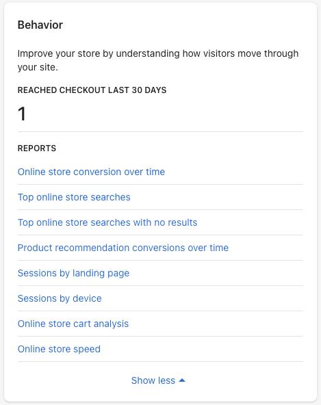 4 - shopify behaviour reports