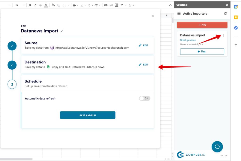6 - coupler addon edit importer