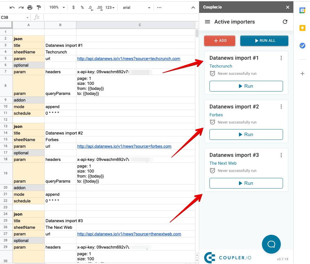 7 - multiple datanews importers