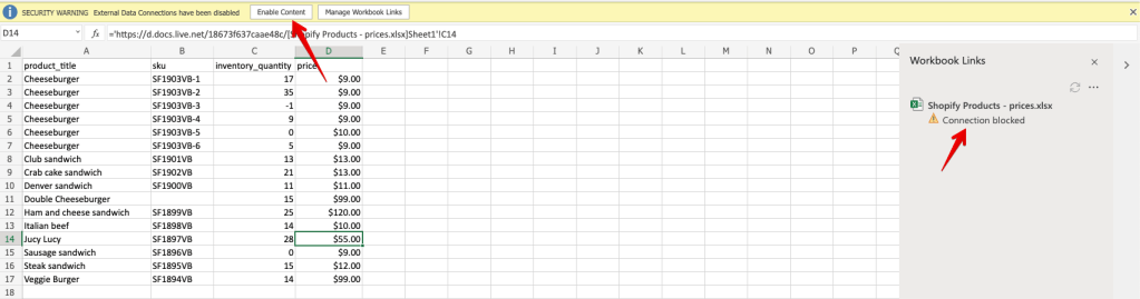8 - excel enable content