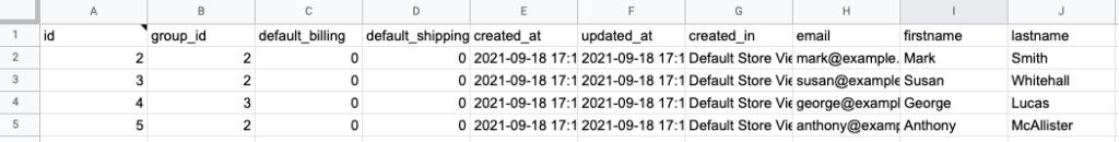 13 - magento sample customers export