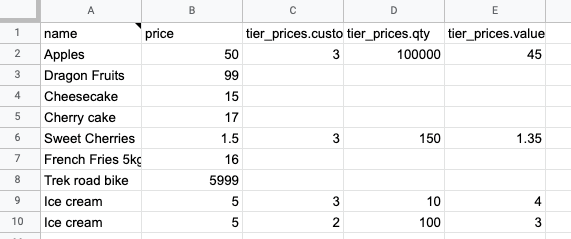 18 - magento sample prices export