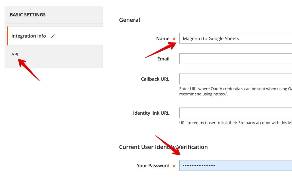 4 - Magento Integration settings